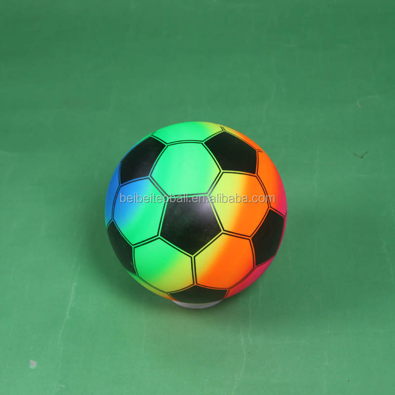 Cheap factory price seven color PVC Rainbow soccer ball