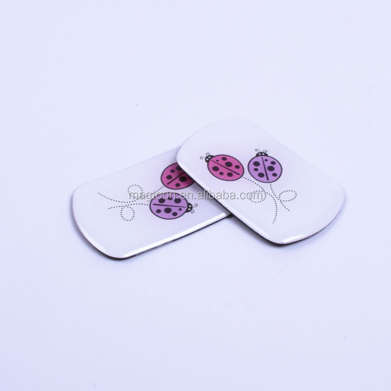 mini poly resin freezer magnet sticker with cute flower