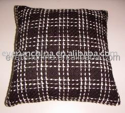 100 acrylic boucle yarn square blanket and cushion cover, chunky yarn pillow
