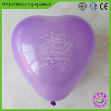 Red heart shape decoration balloon for wedding favors