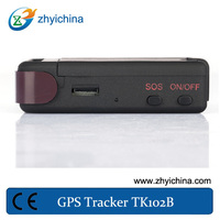 waterproof gps vehicle tracking device TK102B+one year online tracking service