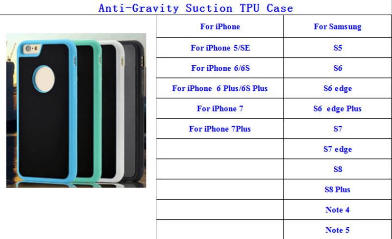 China Made Anti Gravity Sticky Case for iPhone 8 , for iPhone 8 Phone Case