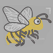 Yellow hornets rhinestone transfer