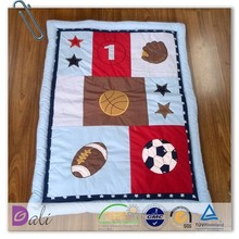 Patch embroidery high quality baby quilt