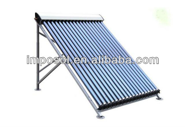 Imposol pressure Heat Pipe solar collector heating water in projects