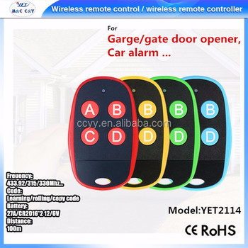 Yaoertai 433.92MHz RF Wireless Car Remote Control Duplicator Copy Code Garage Door