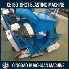 Portable moving floor sand blasting machine/shot blaster for concrete road or steel deck
