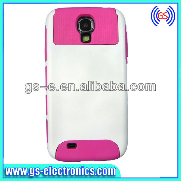 New fashion hybrid color pc+silicon combo case smart cover for Samsung Galaxy S4 i9500