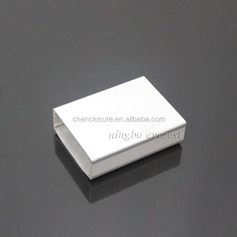 OEM beautiful design utility die cast Aluminum enclosure for electronics with 60.4 mm width PCB