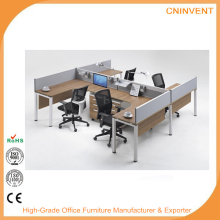 Cheap Used Office Wooden Cubicle Partitions 3 Person Office Workstation/Office Furniture