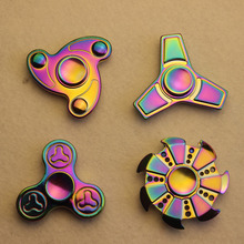 New hot products Pressure Relief Funny Toys Colorful Chroming Fidget Spinner Metal Hand Spinner Toy