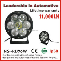 NSSC lighting manufacturers IP68 waterproof 70W 12 volt truck off road led work light