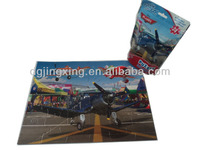2014 New Design Plane Toy 24 Pcs cartoon figure paper board Jigsaw Puzzle