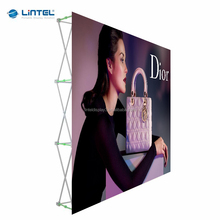 Fabric tension display folding pop up banner stand