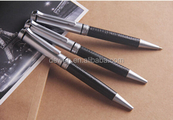 Classic Leather pen for souvenir gift,cusom logo pen with parker refill,1.0mm Germany ink