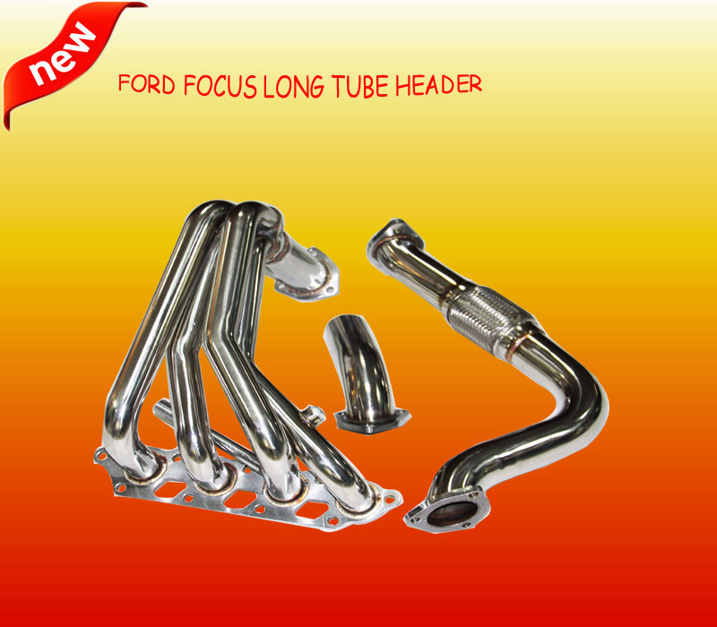 DOHC Stainless Long Tube Header Downpipe Race Manifold For F ord F ocus 00-04 2.0L