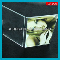 transparent acrylic display stand for supermarket