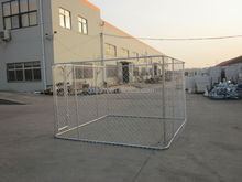 Heavy duty steel hot dip galvanized chain link dog kennel