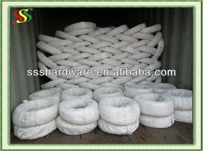 electro galvanized staple wire/fish trap galvanized steel wire
