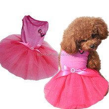 wholesale lovely new design pet clothes dog wedding dress IPET-PC15