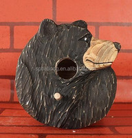 Small cheap Animal wooden crafts wooden bird house
