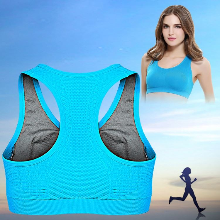 Newest Design Women Nude Sports Bra Hot Sexy Custom Blank Sports Yoga Bra With V-Neck
