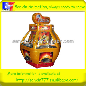 2013 New design Gold fort in hot sale market coin pusher game machine