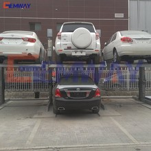 2 Level hydraulic automatic car parking system in ground