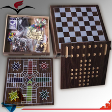 Cheap 7 in 1 wooden ludo game set