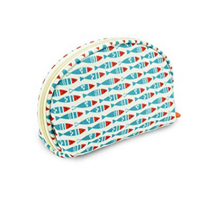 Half Moon Women Small Cosmetic Bag for Carrying Makeup