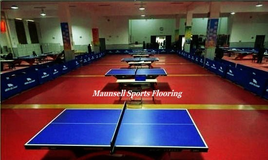 Table tennis court sports pvc flooring with uv coating