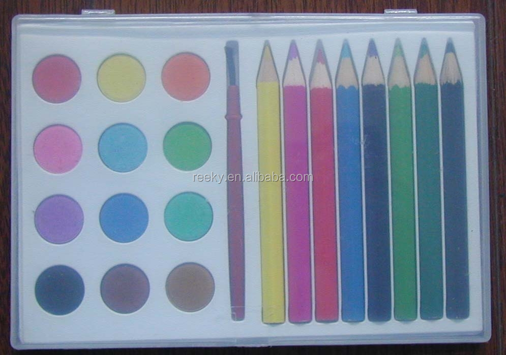 "3.5 ""12 Water colour pencils in paper box"