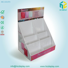 Retail store tabletop cardboard cosmetic display stand