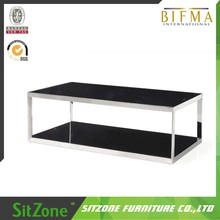 Modern Glass Coffee Shop Table For Office Used Y16A