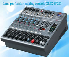 Lane Hight quality Amplifier mixer broadcast mixing console GMX-8/2D 8 channels professional with USB SD MP3 dj mixer amplifier
