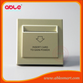 Electric energy saving card switch for hotel room power control