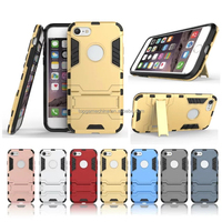 Hybrid Kickstand 2 in1 combo Bracket Stand Case + Heavy Duty military Phone Back case For iPhone 7 7 Plus Phone Case