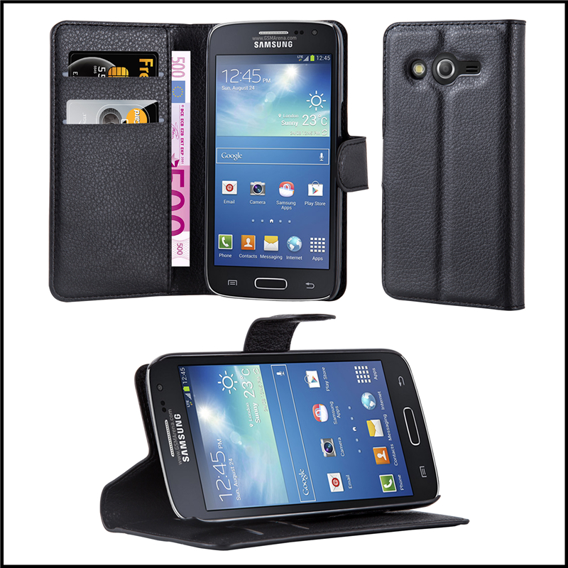Premium Wallet Leather Moblie Phone Case Cover for Samsung Galaxy Core Lite
