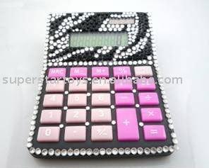 calculator with artificial diamond
