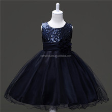 Factory direct sales kids party wear kids fashion dresses pictures