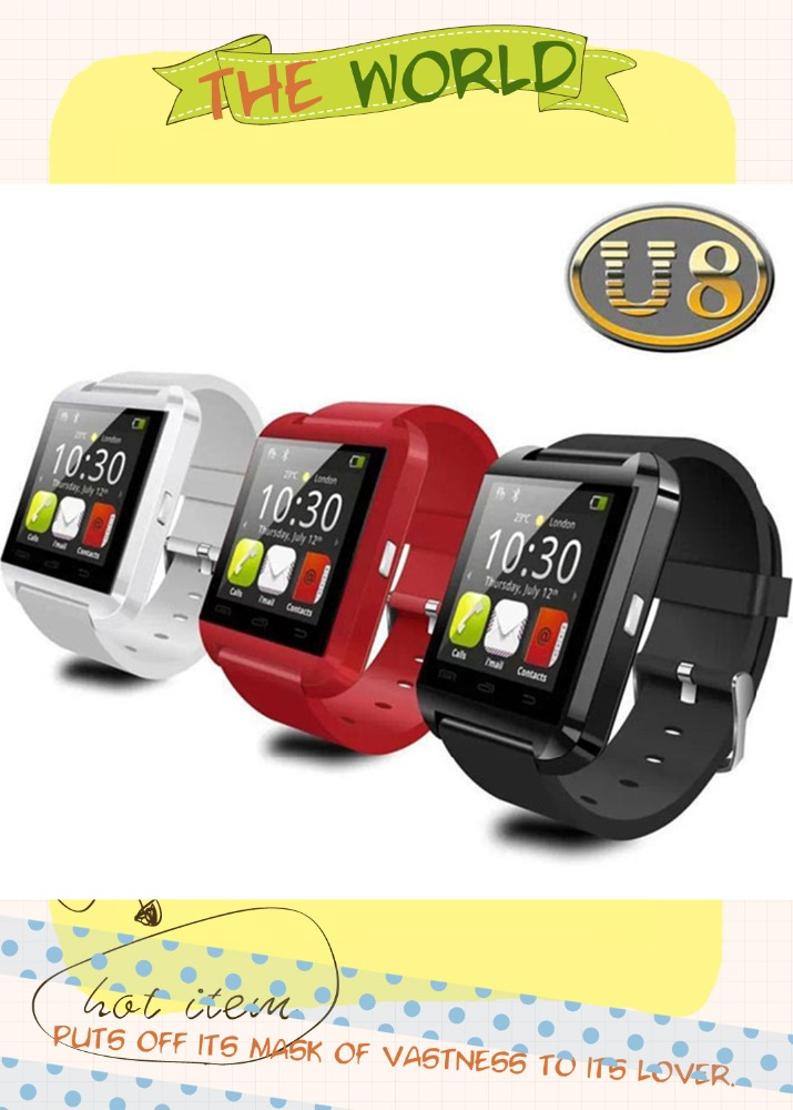 Low price cool U8 bluetooth smartwatch colorful watch phone