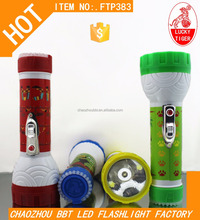 Torch Manufacturers Tiger Brand Dry Battery LED Electric Torch Plastic Torch Flashlight