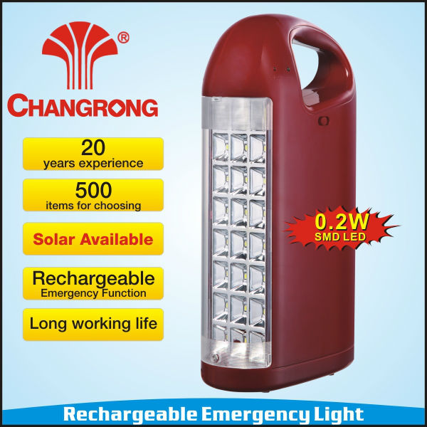 solar power rechargeable battery charging led light emergency