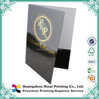 Full color black gold hot stamping art paper a4 folder stand