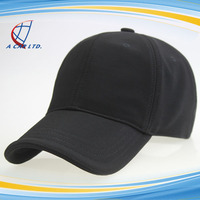 Blank Six Panel Polyester Flexfit Baseball Cap and Hat Without Logo