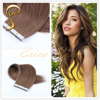 Best Quality Tangle Shedding Free brazilian remy hair babe tape in hair extensions
