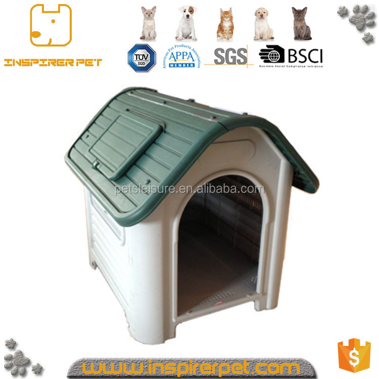 Brand New plastic Dog House Models with Sun Roof Skylight Window