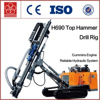 H690 open air top hammer drilling Machine crawler rock drill rig