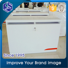 Mobile security wood display counter stand design for computer shop