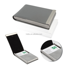 Litchi PVC New design personalized Stainless Steel Magnet Closure Card holder